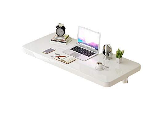 WUHUAROU Mesa plegable de pared para mesa de trabajo de pared, ideal para cocina, balcón, ordenador o mesa de trabajo infantil, 40 x 30 cm, color blanco
