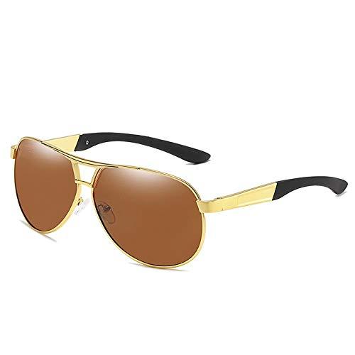 Sunglasses Neue Männer Vintage Mode Pilot Sonnenbrillen Polarisierte Sonnenbrillen Beschichtungslinse Fahrbrillen Für Männer Browngloden