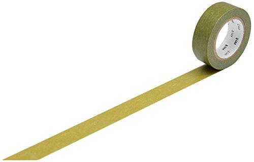 MT Kamoi Kakoshi KMMT-MKT1PB-AS - Nastro Coprente Giapponese, a Base di Fibre vegetali, riposizionabile, 1.000 x 1,5 cm, Colore: Verde Kaki