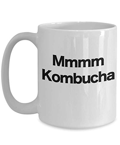 Kombucha Taza de café blanco Hippy Granola crujiente Salud Alimentos Junkie Brewing SCOBY