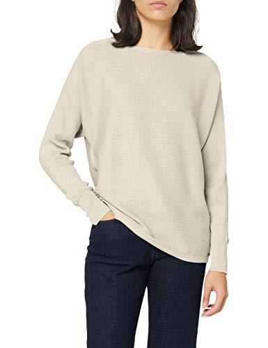 Street One Damen A301258 Pullover, Pearl Cream Melange, 40