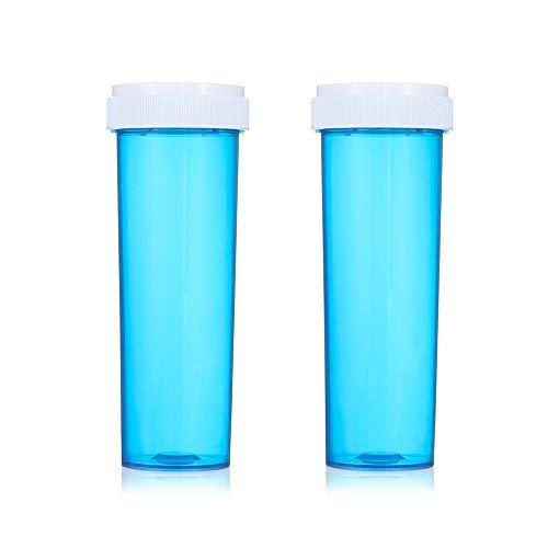 False Eyelashes Box Fake 3d Mink eyelashes case tube Package Fake Faux Cils lash stripe Empty Pill Shape Box(Blue)