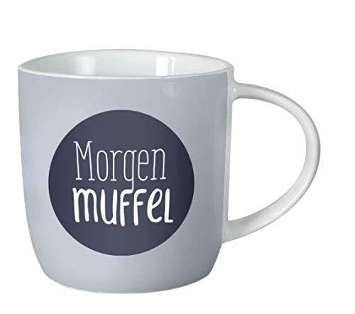 Grafik-Werkstatt 61427 rafik-Werkstatt Kaffeetasse mit Spruch 300 ml   Porzellan Tasse lustig   Morgenmuffel