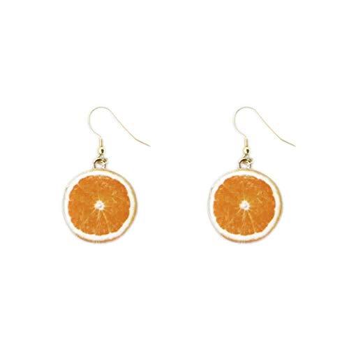 Pendientes Fresco Verano Naranja Aretes Aretes Aretes De Frutas Silvestres