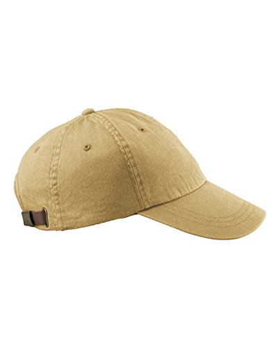Adams 6-Panel Low-Profile Washed Pigment-Dyed Cap, Chamois, OS