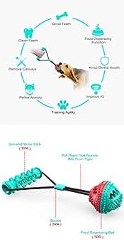 LKJYBG Jouet à mâcher pour chien, corde de dentition détachable pour chien - Balle distributrice de friandises - Jouet à tirer - Convient aux chiens de taille moyenne et grande