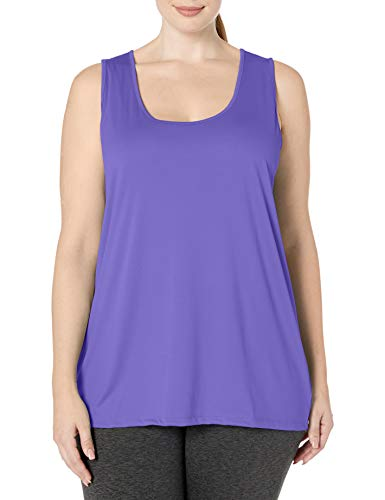 Just My Size Women's Plus-Size Cooldri Tank, Petal Purple, 3X