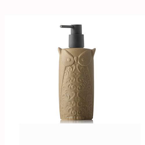 ffshop Dispensador de jabón de Cocina Emulsión de cerámica Separar presionar la Botella vacía del Hotel Champú Gel de baño desinfectante de Manos 450ml Botella dispensadora de jabón