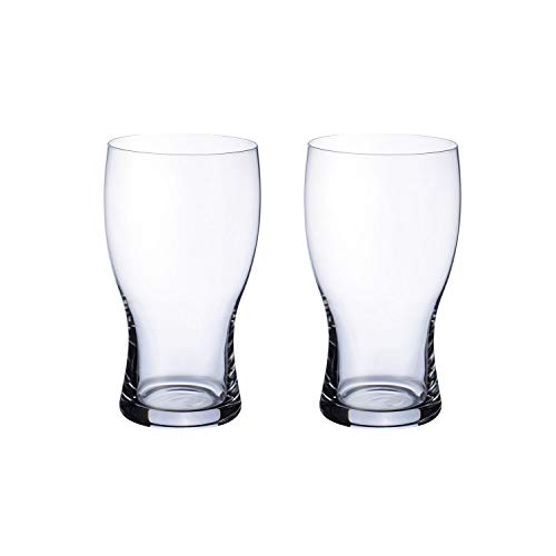 Villeroy & Boch Purismo Beer Pint, 2er-Set, 650 ml, Kristallglas, Klar
