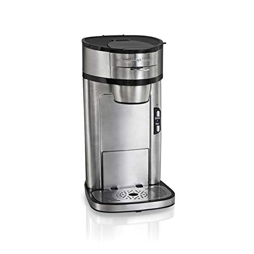 Hamilton Beach Scoop Single Serve Coffee Maker, Fast Brewing, Stainless Steel (49981A) (Hamilton Beach 49981a Single Serve Scoop Coffee Maker)