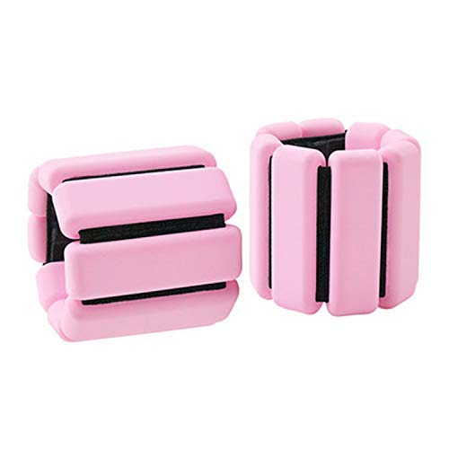 Wrist Weights Adjustable Ankle Weights Set 1 Pair Weighted Bracelet WeightBearing Fitness Wristband for Fitness Exercise for Men Women Pink