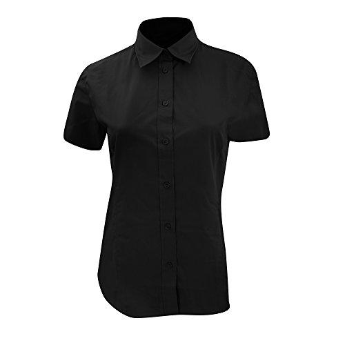 Kustom Kit Ladies Workforce Short Sleeve Shirt 12 Black