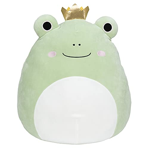 Squishmallow 16-Inch Frog Prince - Add Baratelli to Your Squad, Ultrasoft Stuffed Animal Large Plush Toy, Official Kellytoy Plush