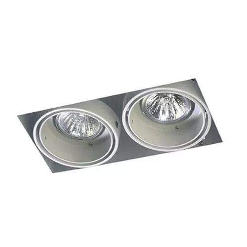 LEDs-C4 DM 0094-14-00-Encastrement multidir trimless 2xgu5,3 50w Blanc