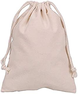 """Bister Pack of 5 Canvas Coin Money Sacks Bag Deposit Change Bags Transit with Draw Strings,12""""x16"""""""