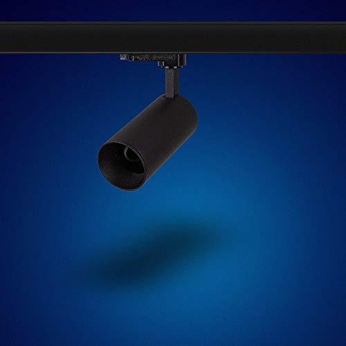 Mextronic GU10 3-PHASEN-STRAHLER Dreh- und schwenkbarer für GU10 Leuchtmittel LED 3 Phasen Leuchte Genius L502 für Schienensystem