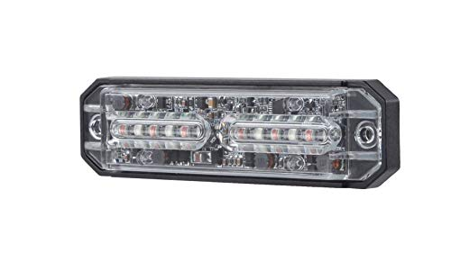 Abrams Ultra Series 69+ Patterns SAE Class-1 Snow Plow Truck Vehicle 36W LED Grille Light Head Surface Mount Strobe Warning Light Amber//White Dual Color 12 LED