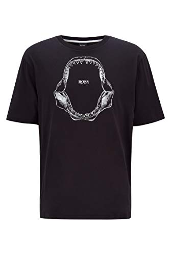 BOSS Tima 2 10139980 01 Camiseta, Negro1, XXL para Hombre
