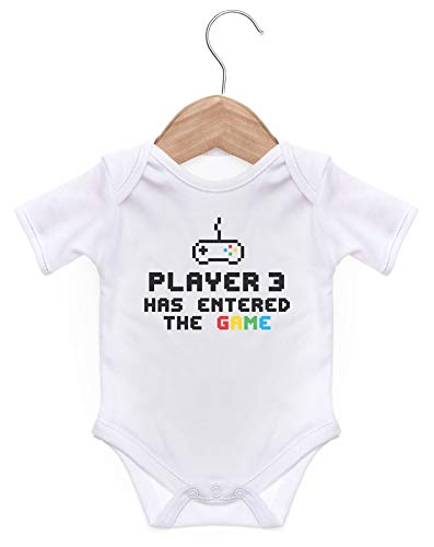 ART HUSTLE Player 3 Has Entered The Game Short Sleeve Bodysuit/Baby Grow...