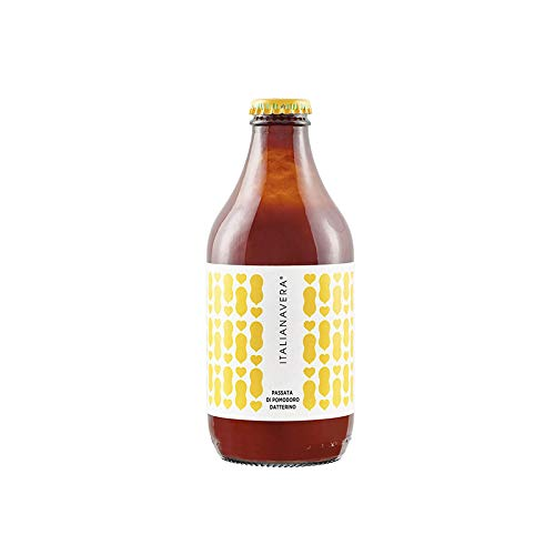 Passata di Pomodoro della Nonna datterino 1 bottiglia da 330Cl sughi pomodori ItalianaVera Prodotti Italiani