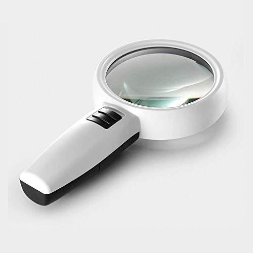 Lupa 30 Veces Vaso con Luces LED Handheld HD Estudiantes De Alta Potencia Leyendo Mirro