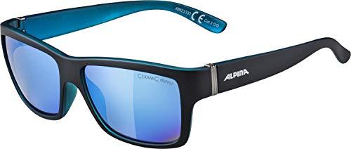 ALPINA KACEY Sportbrille, Unisex– Erwachsene, black matt-blue, one size