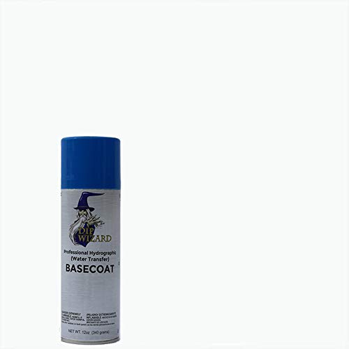 Dip Wizard Hydrographic Paint 12 Ounce Aerosol Spray Can Base Coat Hydro Graphic Film Water Transfer Printing Hydro Dipping Dip Paint (Flat White)