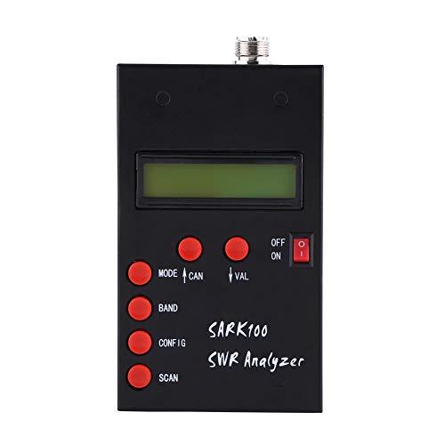 ハンドヘルド短波アンテナアナライザー ミニ1-60MHz SWRメーター 測定範囲1.0-9.99 調整可能なRF出力 同軸ケーブルゲージ アマチュア無線に最適
