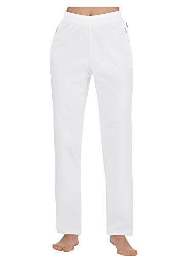 Trigema Damen Freizeithose 100% Baumwolle Shorts Sportifs, Blanc (Weiß (weiß 001), 58 (Taille Fabricant: 4XL) Femme