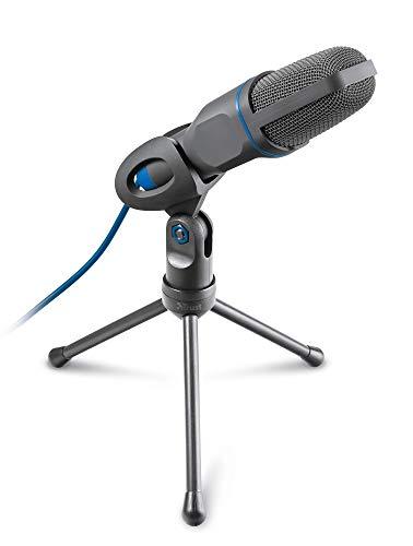 Trust Mico PC Micrófono de Condensador, Conexiones de 3,5 mm y USB, Cable de 1.80 m, Soporte de Trípode, para Computadoras Portátiles, PC, Podcasting, Skype, Twitch, Streaming, Youtube, Teams, Zoom