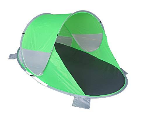 Strandmuschel Pop Up Strandzelt Grün Polyester blitzschneller Aufbau Wetter- und Sichtschutz Duhome 5067