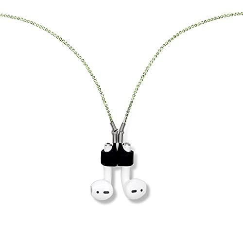 collarCorrea magnética para Auriculares inalámbricos, cordón antipérdida, Cuerda de Metal, Cadena de Cuero para