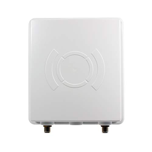 LTE Richtantenne inkl. 5m Kabel - 9dBi, Wetterfest, 800/1800/2600 MHz Universal Multiband 4G Antenne passend für LTE Router (wie z.B. Speedport, Speedbox, EasyBox, FritzBox)