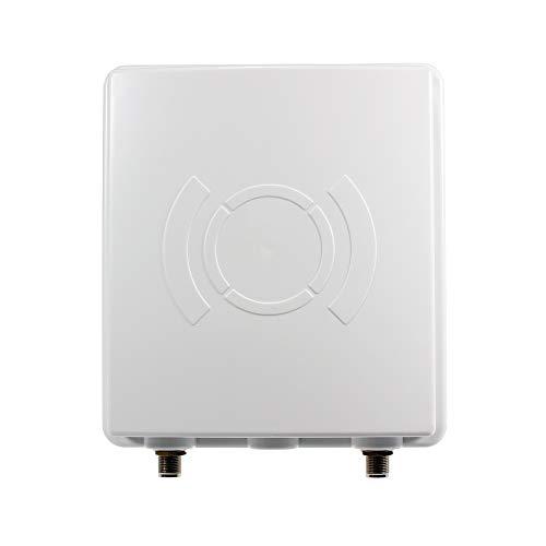 Antena direccional LTE, incluye cable de 5 m, 9 dBi, resistente a la intemperie, 800/1800/2600 MHz, universal, multibanda 4G, apta para router LTE (como Speedport, Speedbox, EasyBox, FritzBox)