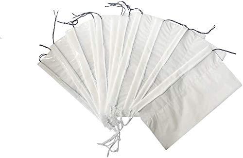 Zcoins - Sacchetti per vomito con cuscinetti super assorbenti, per auto da viaggio, confezione da 25 sacchetti Emesis con chiusura a cordoncino