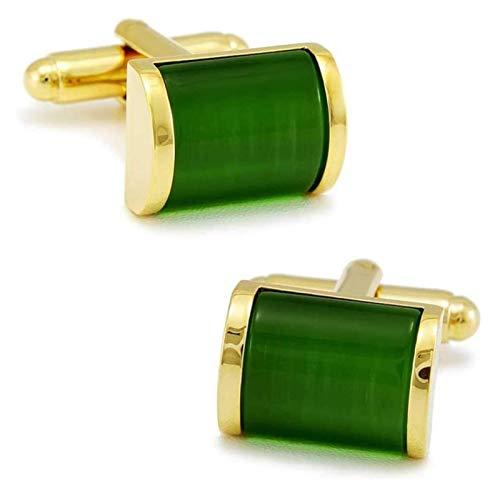 WJCRYPD Limpio Emeralda Opal Gemelos Gemelos De Hombre Casual Camisa Casual Gemelos Casual Casual Gemelos De Hombres Qf Shop