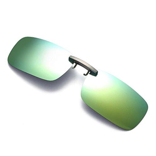 winwintom Visión nocturna desmontable Lens Manejando metal polarizado clip gafas - gafas de sol (Dorado)