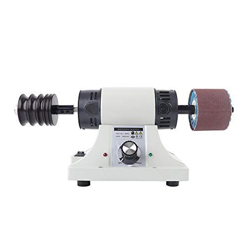 Pulidora eléctrica para piel, con cabezal de lijado de palisandro, 350 W, 220 V, 0-8000 rpm para vegetales, piel