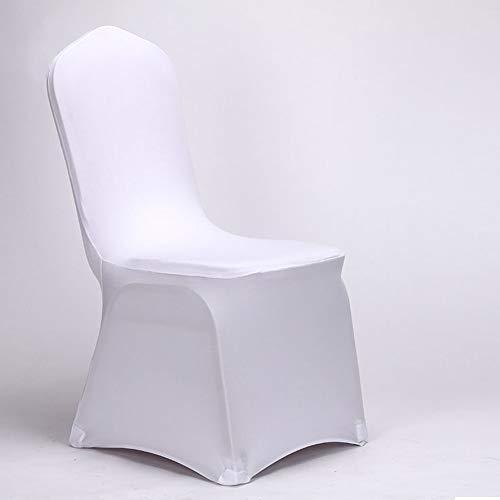 AllRight 100 x Universell Stuhlhussen Stretch Stuhl Husse Stuhlbezug Stuhlüberzug Weiß