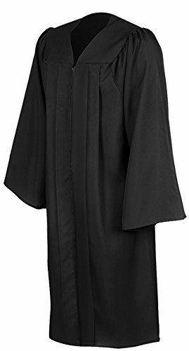 Leishungao Adult Black Choir Robe Matte Finish for Choir Clergy ReligiousWearing Height 4'9''-4'11''FF
