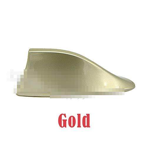 For Citroen C3 C4 C5 Berlingo 2008 2009 2010 2011 2012 a 2017 de la señal del Coche Antenas de Aleta de tiburón Antena Accesorios de Estilo (Color : Gold)