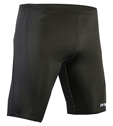 Onvous Mens Durable Training Jammer Swimsuit (36) Black