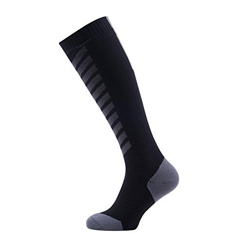 Sealskinz Waterproof MTB Hiking mid knee, Negro (Black/Anthracite/Charcoal), Small (3-5 UK) (36-38 EU)