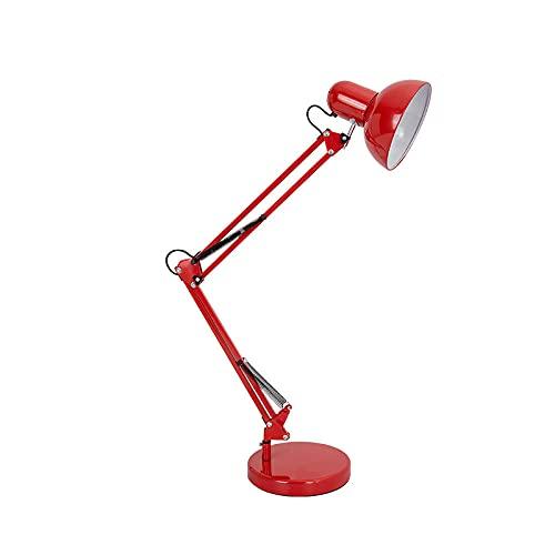 YUNHOME Luz De Lectura Lámpara De Mesa con Clip Lámpara De Pinza American Iron Art Eye Oye Lamp Lamp Celebrity Anchor Tattoo Tattoo Children Long Brazy Clip Lámpara-Fondo Rojo