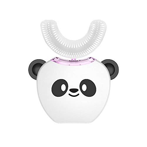 CampHiking Vollautomatische 360 ° Elektrische Zahnbürste Kinder - Intelligente Ultraschall Silikon Zahnbürste, Wiederaufladbar, Kaltes Licht Whitening, Food Grade Silikonbürstenkopf