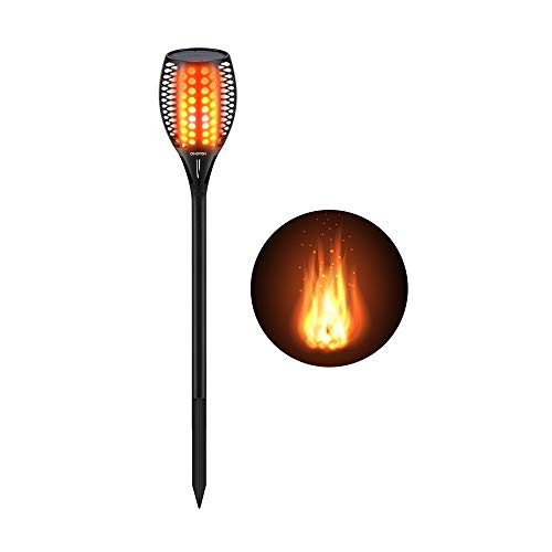 Cinoton Solar Light,Path Torches Dancing Flame Lighting 96 LED Dusk to...