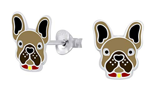 French Bulldog .925 Sterling-Silver Stud Earrings