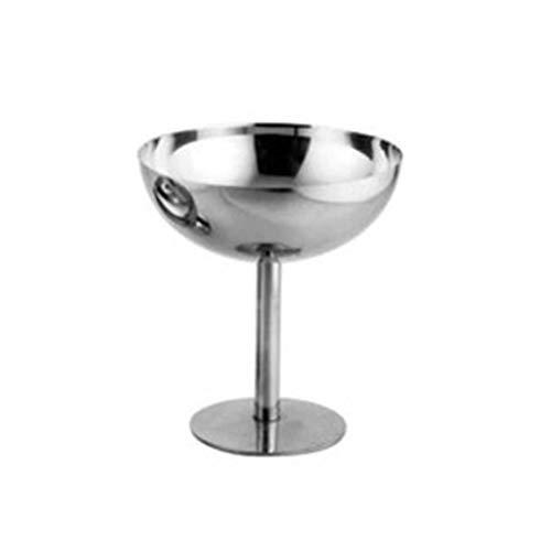 Copa de helado de acero inoxidable Copa de helado Copa de vino Barra de copa - Plata