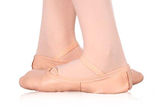 Happy Dance Ballet - Zapatillas de Media Punta de Danza para niña, Color salmón, Talla 38