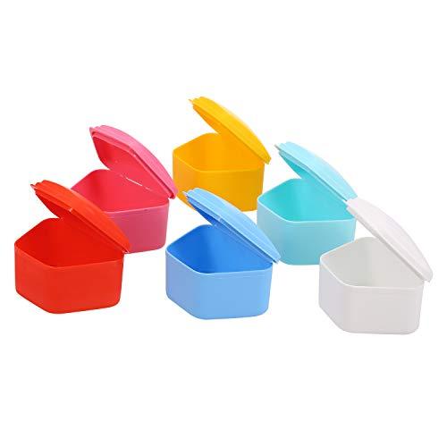 Fesjoy Prothesenbad Box Fall Zahn Falsche Zähne Gerätebehälter Kunststoff Künstliche Zahn Aufbewahrungsbox Zähne Pflege Prothesenbad